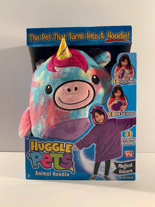 Huggle Pets Rainbow Unicorn Hoodie Mercari In 2020 Unicorn Hoodie Animal Tv Animal Hoodie