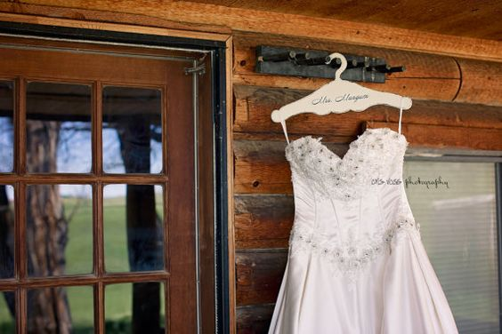 Bridal Hanger Rustic Wedding Hanger Personalized by gregolino