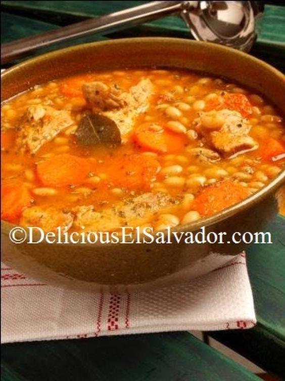 White Bean and Pork Rib Soup (Sopa de Frijoles Blancos con Costilla de Cerdo) via HispanicKitchen.com