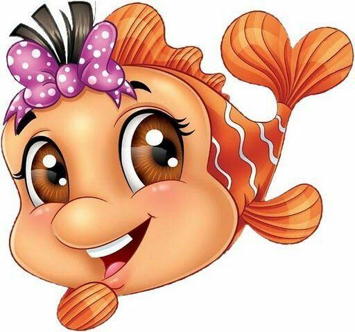Pretty Fish Fabricpaintingcartoon Fish Pretty Fabric Painting Cute Art Cute Drawings