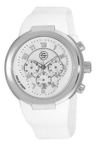 Philip Stein 32-AW-RW – Reloj analógico de cuarzo unisex, correa de silicona color blanco | Your #1 Source for Watches and Accessories