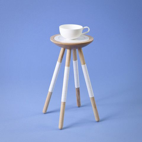 Tea for one table in white
