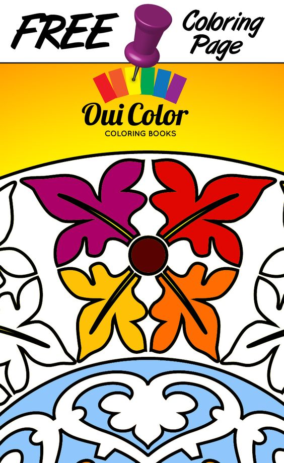 #Free #Centre #ColoringPage from Oui Color Coloring Books #mandalas #adultcoloring #adultcoloringpage #coloringbook