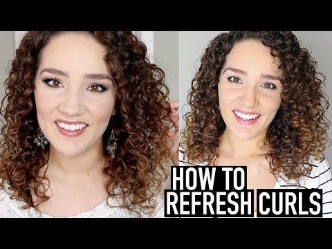 How To Refresh Naturally Curly Hair And Preserve Curls At Night In The Shower And While Working Refreshed Curls Curly Hair Styles Curly Hair Styles Naturally