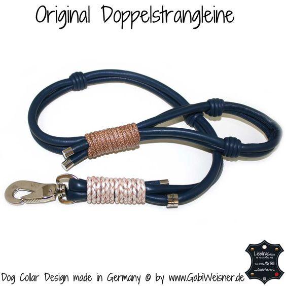 Führleine Leder bis 1 m, Hundehalsband im Leder Mix für große Hunde √