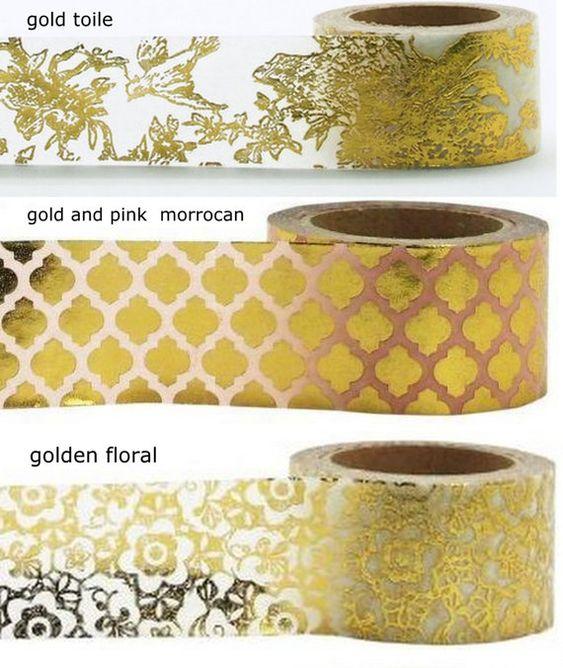 Custom GOLD FOIL pride hearts washi tape