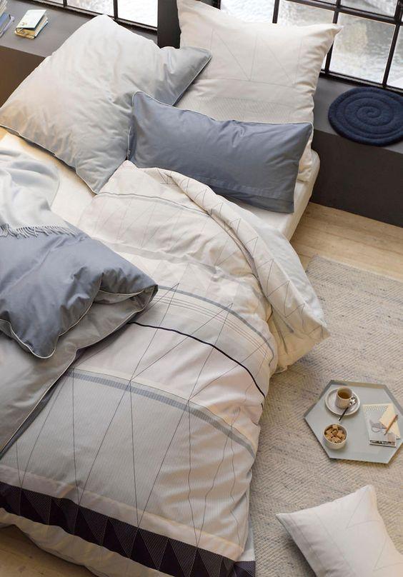 Der Hingucker im Schlafzimmer: Satin-Wendebettwäsche aus reiner Bio-Baumwolle #hessnatur #home #living #inspiration