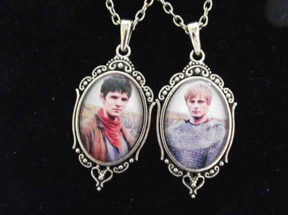Merlin and Arthur, set of 2, best friend necklaces.