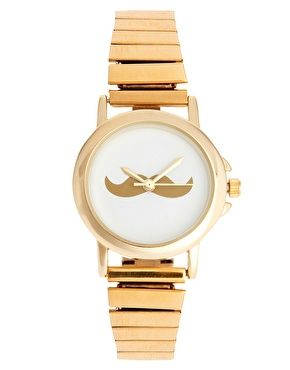 a mustache watch, so hipster.