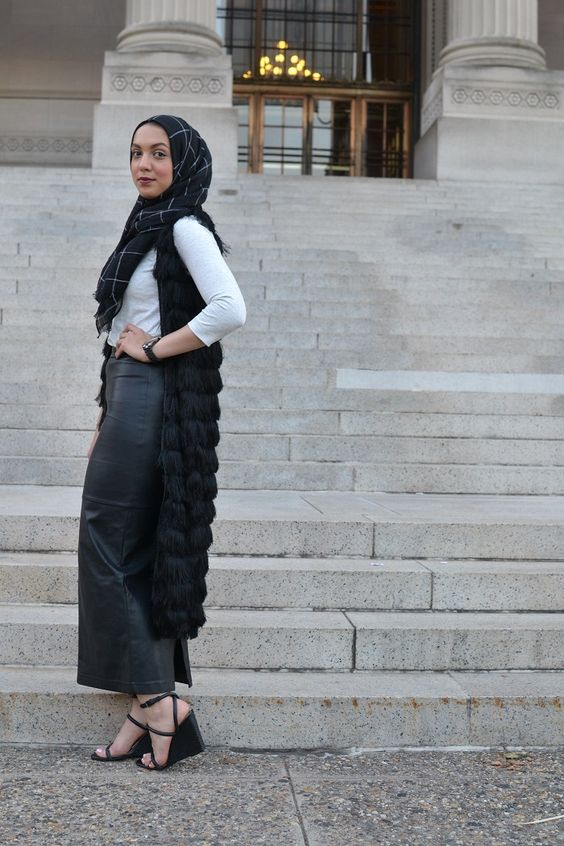 Leather Maxi Skirt Austere Attire Hijab Modest Fashion