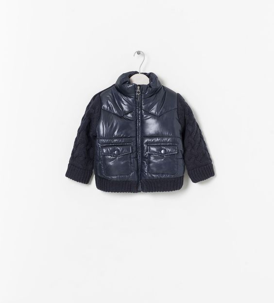 ZARA - KIDS - COMBINED QUILTED JACKET