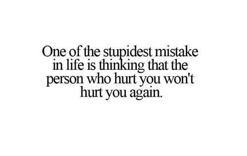 so true even after being broken up years later when it comes to ex's bad mouthing you/trying to give you a bad name.