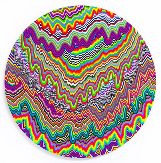 Psychedelic State - hand-cut paper sculptures by Jen Stark