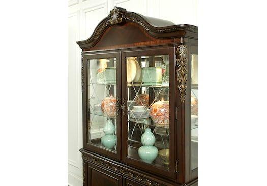 Aylesbury Brown Cherry 2 Pc China China Cabinets Dark Wood With