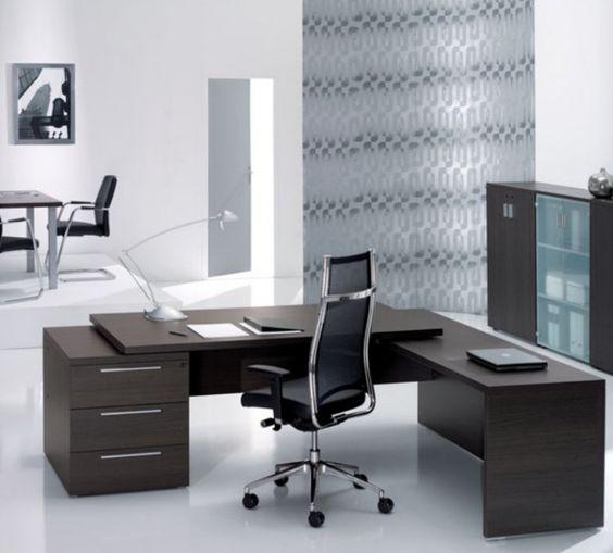 Beautiful Modern Wood Offices | Home Adore. El archivador de la derecha, alto.