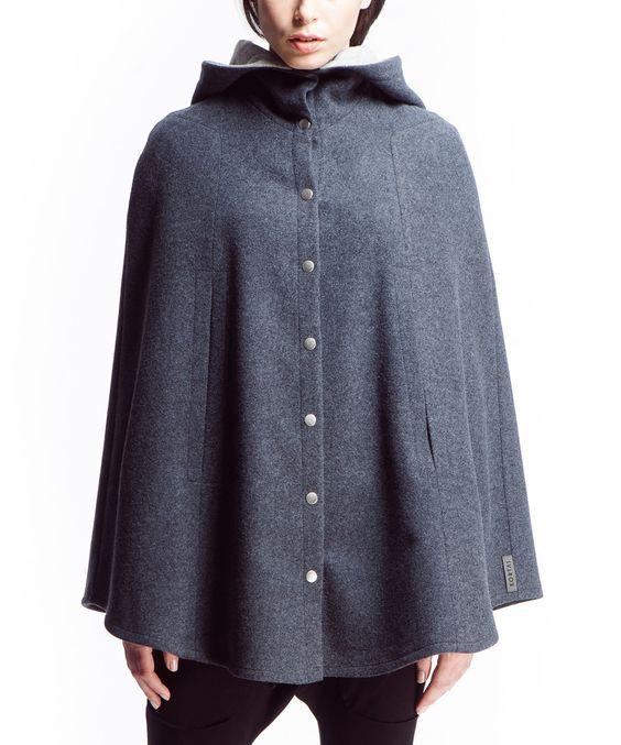 This Dark Gray Delmar Wool-Blend Cape by KORTAS is perfect! #zulilyfinds