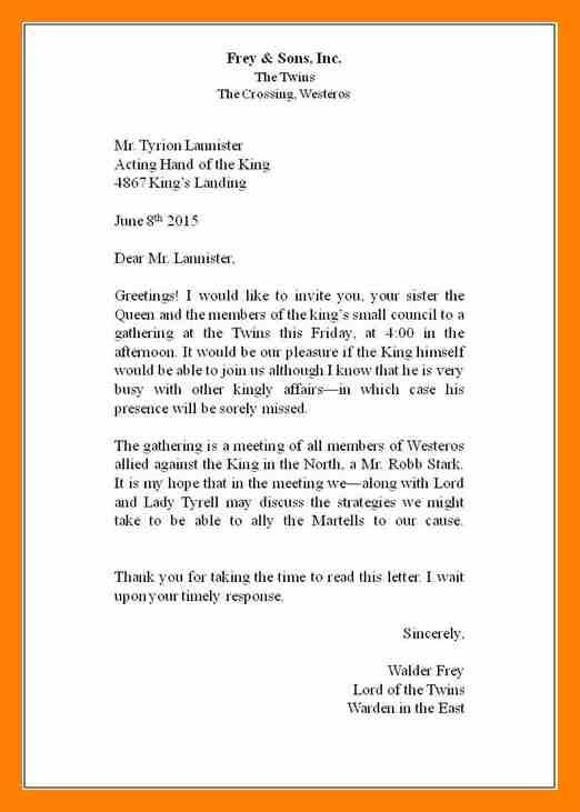 Business Letter Format Business Letter Example Business Letter