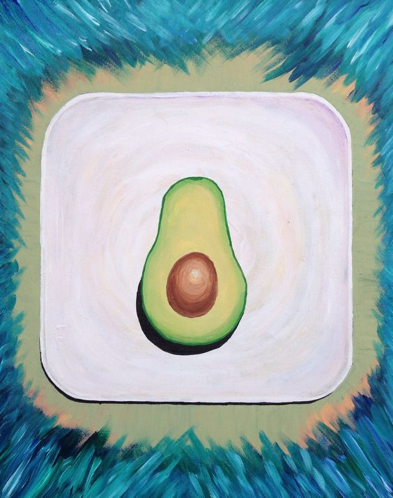 #avocado #iloveavocados #artwork #avocadoart #originalart #paintings #canvas #art #love  #acrylics  #ruclvr by Kristen VanPamel