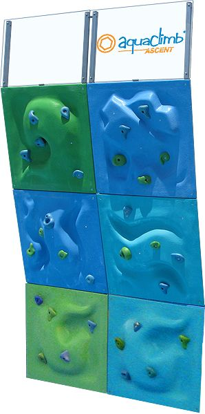 AquaClimb® Poolside Climbing Walls - this was so much fun!!!  You climb up and then just fall into the pool.