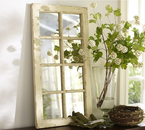 Paned Foundry Mirror by Pottery Barn
