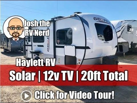 Updated 2019 Rockwood 19fbs Geo Pro Azdel Ultralite With Roof Solar And Rv Dreams Rv Solar Travel Trailer