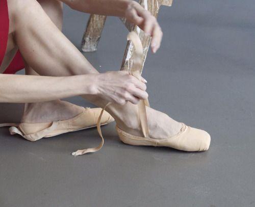 Iana Salenko @ pointe shoe prep.