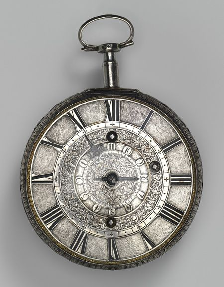 Traveling clock watch with alarm, ca. 1680