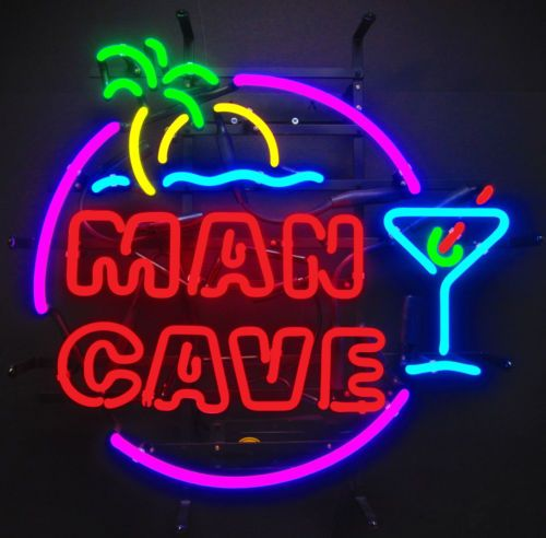 Man Cave Lighted Beer Signs : Neon sign tropical mancave man cave garage wall lamp light