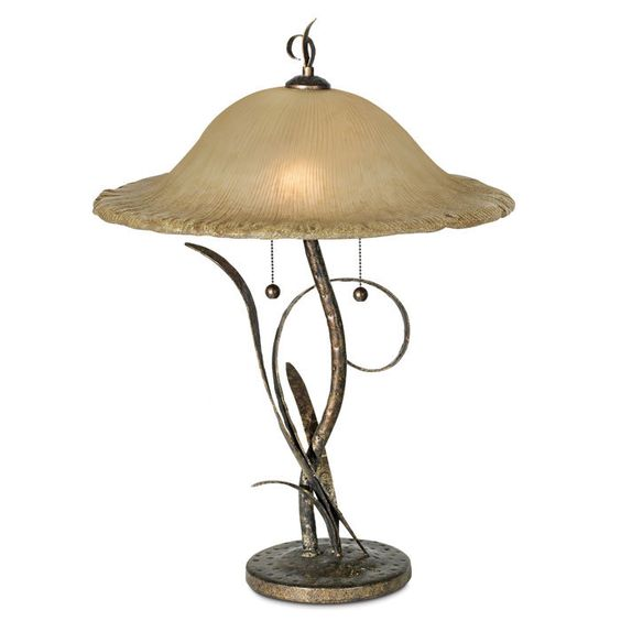 Okay, I know this is new but I have a vintage glass shade from a ceiling light that would look like this if I found the correct lamp at a yard sale.  I will be looking...