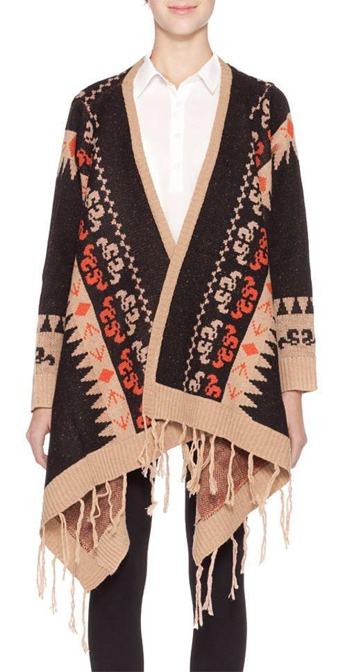 Tribal Drape Cardigan