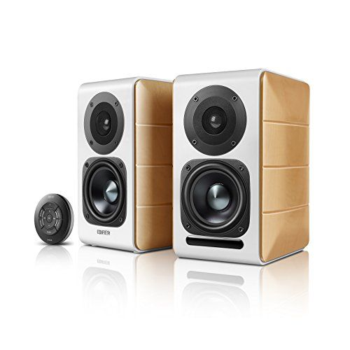 Edifier R1280DB Powered Bluetooth Bookshelf Speakers Optical Input Wood