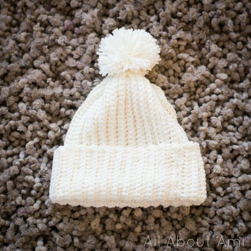 Crochet Beanie Pattern Ribbed : Ribbed beanie. Yes, that is crochet!!! ~ free pattern ...