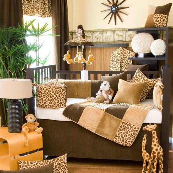 Leopard Print Jungle Baby Nursery