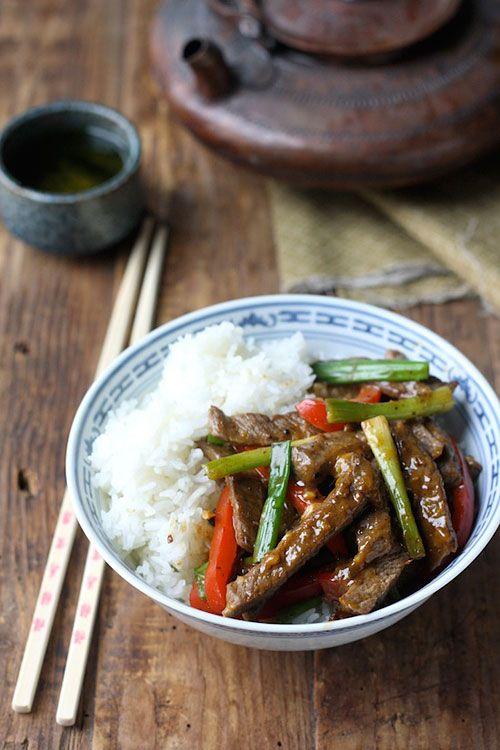Sichuan Orange Beef - amazing beef with spicy orange sauce