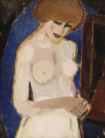 Gustave de Smet (1877-1943, Belgium) - Torse de femme, 1916