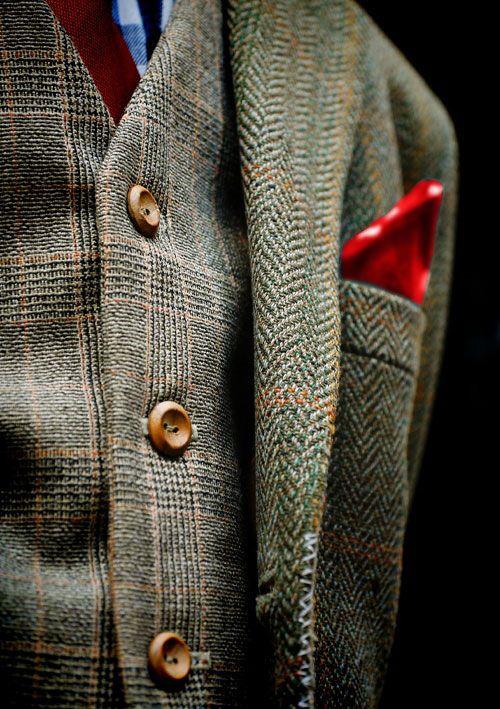 Cool-life, deze stof past goed bij het natuurlijke stijltype. En als je dan toch een pak moet dragen