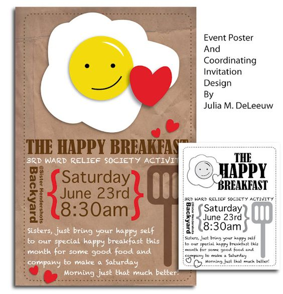 Breakfast invitation design and event poster | Everyday Mom Ideas ...