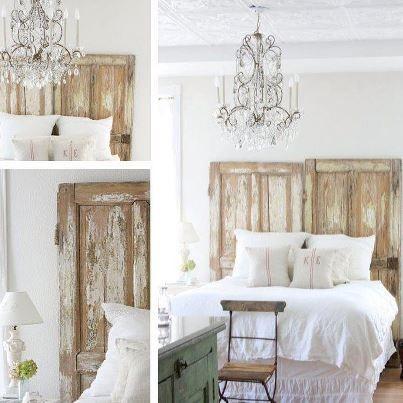 Aproveitando as Portas antigas como cabeceira da cama *