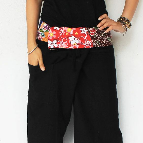 3/4 red and blue tone on waist  with black  Thai by meatballtheory, $15.00