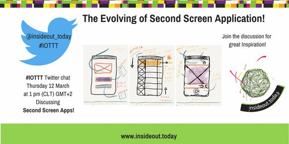 "#IOTTT Twitter Chat ""Second screen application"""
