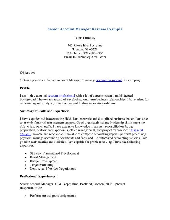 Innovation Design Account Manager Resume Sample Sales For Study in