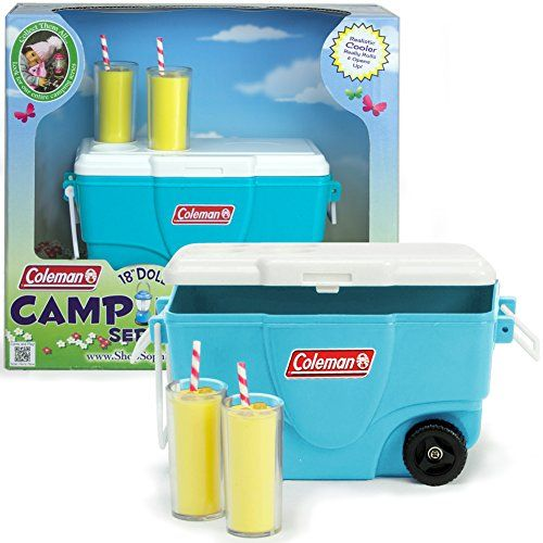 18 Inch Sophia's Doll Accessories, Aqua Coleman® Cooler with Lemonade Glasses Perfect for the 18 Inch American Picnic Girl and Other Play Food Sets! Aqua Coleman® Cooler with Lemonade Glasses, Doll Items Sophia's http://www.amazon.com/dp/B00M0OZLLC/ref=cm_sw_r_pi_dp_8ImBwb16F39H2