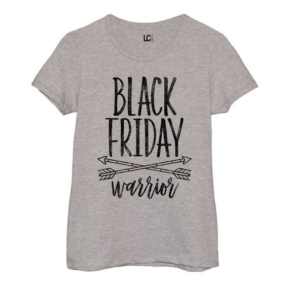 Black Friday Warrior - Adult Ladies Short Sleeve Fitted Tee