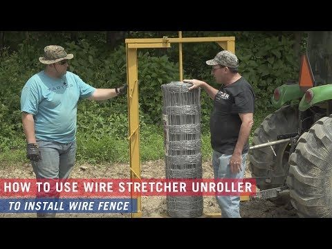 How To Install A Wire Fence Youtube Wire Fence Fence Field Fence