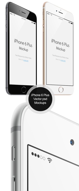 50 Best Free PSD MockupsiPhone 6 Plus Vector PSD MockUps