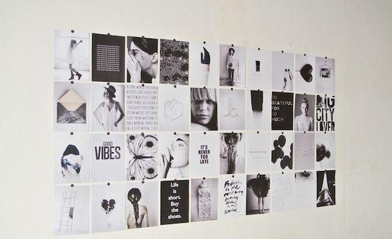 Muurdecoratie Ideeen : Creatieve fotocollage - via April and May # ...