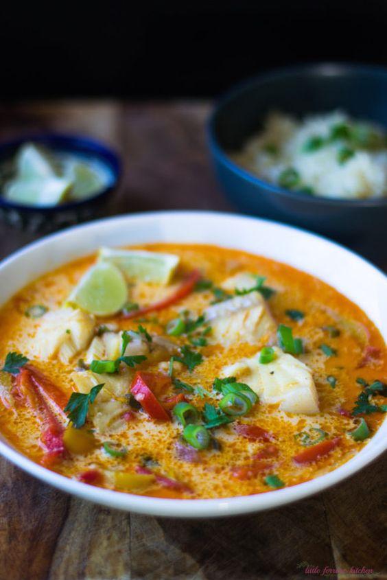 Brazilian moqueca fish soup recipe jasmine rice soups for Creamy fish stew