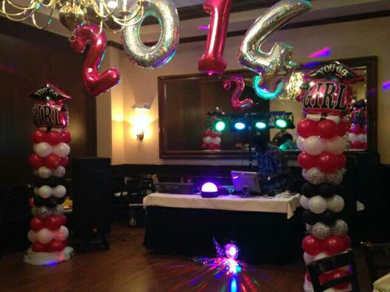 Balloon columns with 2014 arch by Glam-It-Up