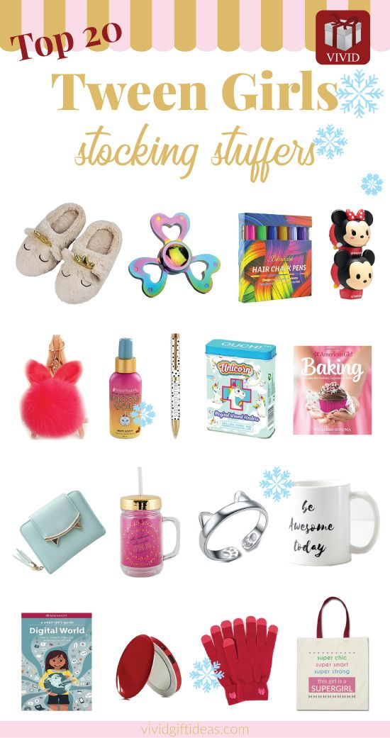 Top Christmas Gifts For Preteens 2021 40 Stocking Stuffer Ideas For Tweens Christmas 2021 Vivid Tween Girl Christmas Gifts Christmas Gifts For Girls Tween Birthday Party