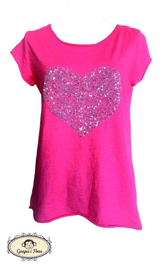 Camisa Rosa Corazón